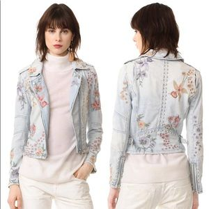 Blank NYC Sitting Pretty Floral Embroidered jacket